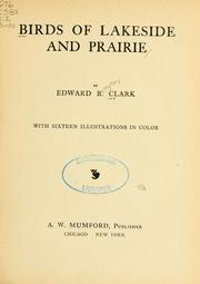 Cover of: Birds of lakeside and prairie | Edward Brayton Clark