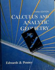 Cover of: Calculus and analytic geometry by C. H. Edwards