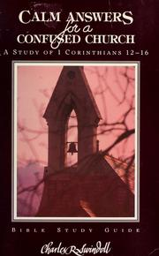 Cover of: Calm answers for a confused church | Charles R. Swindoll