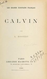 Cover of: Calvin | Adolphe Bossert