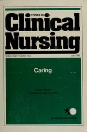 Cover of: Caring |