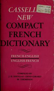 Cover of: Cassell's new compact French-English, English-French dictionary |