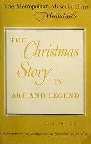 Cover of: The Christmas story in art and legend |