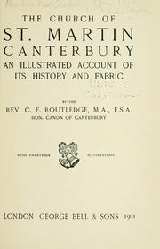 Cover of: The church of St. Martin, Canterbury | Routledge, C. F.
