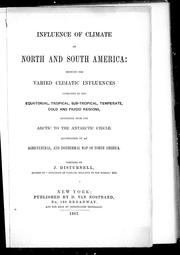 Cover of: Influence of climate in North and South America | J. Disturnell