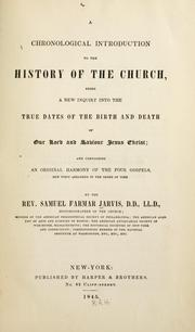 Cover of: chronological introduction to the history of the church | Samuel F. Jarvis