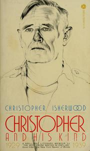 Cover of: Christopher and his kind, 1929-1939