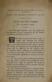 Cover of: Chur ch and state principles by William Stubbs
