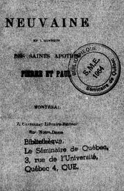 Cover of: Neuvaine en l'honneur des saints apôtres Pierre et Paul by