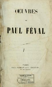 Cover of: Le château de Velours by Paul Féval