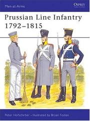 Cover of: Prussian Line Infantry 1792-1815 | Peter Hofschroer