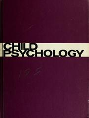 Cover of: Child psychology | Wallace A. Kennedy