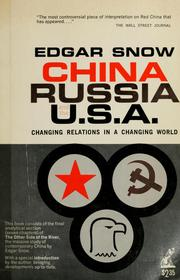 Cover of: China, Russia, and the U.S.A.