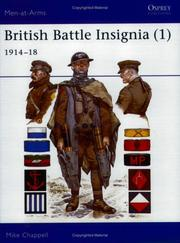 Cover of: British Battle Insignia (1) : 1914-18 | Mike Chappell