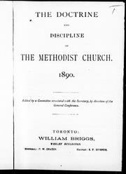 Cover of: The Doctrine and discipline of the Methodist Church, 1890 |