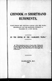 Cover of: Chinook and shorthand rudiments by J. M. R. Le Jeune