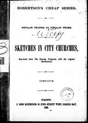 Cover of: Sketches in city churches |