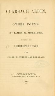 Cover of: Clarsach Albin, and other poems. | James M Morrison