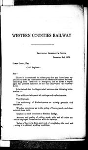 Cover of: Report of examination of Western Counties Railway by by Jas. Odell.