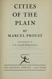 Cover of: Cities of the plain by Marcel Proust