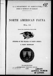 Cover of: Synopsis of the weasels of North America |