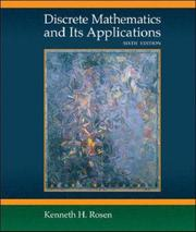 Cover of: Discrete Mathematics and Its Applications | Kenneth H. Rosen