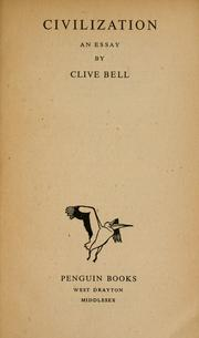 Cover of: Civilization | Clive Bell