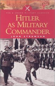 Cover of: Hitler as military commander