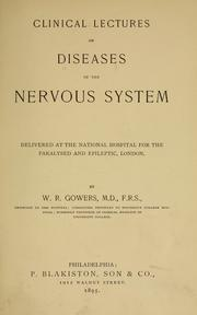 Clinical lectures on diseases of the nervous system