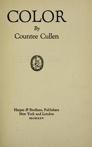 Cover of: Color | Countee Cullen