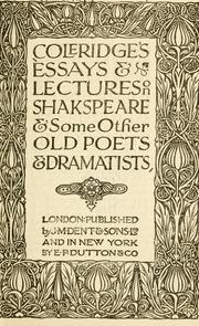 Coleridge Essays And Lectures On Shakespeare - image 7