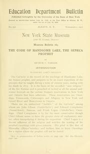 Cover of: The code of Handsome Lake, the Seneca prophet | Handsome Lake