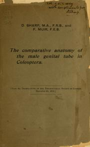 Cover of: The comparative anatomy of the male genital tube in Coleoptera by Sharp, David