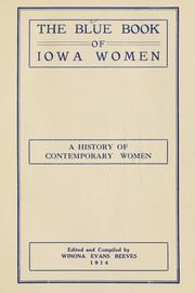 Cover of: blue book of Iowa women | Winona Evans Reeves