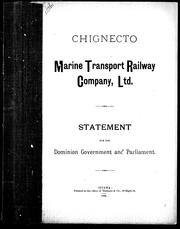 Cover of: Chignecto Marine Transport Railway Company, Ltd. | A. D. Provand