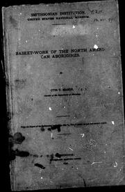 Cover of: Basket-work of the North American aborigines |