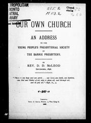 Cover of: Our own church |
