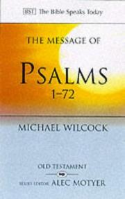 Cover of: The Message of Psalms 1-72 | Michael Wilcock