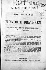 Cover of: A catechism on the doctrines of the Plymouth Brethren |