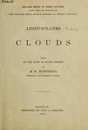 Cover of: Clouds by Aristophanes