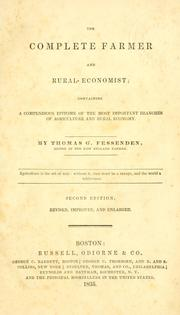 Cover of: complete farmer and rural economist | Thomas Green Fessenden