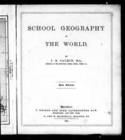 Cover of: School geography of the world by Calkin, John B.
