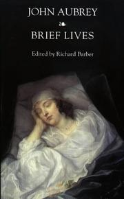 Cover of: Brief Lives (Modern History) | John Aubrey
