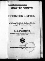 Cover of: How to write a business letter |