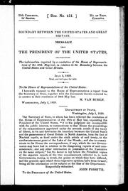 Cover of: Boundary between the United States and Great Britain |