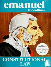 Constitutional law by Steven Emanuel