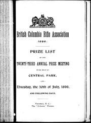 Cover of: British Columbia Rifle Association 1896 | British Columbia Rifle Association (Victoria, B.C.).