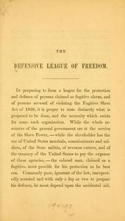 Cover of: [Constitution. etc | Defensive League of Freedom.