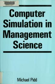 Cover of: Computer simulation in management science | Michael Pidd