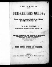 Cover of: The Canadian bee-keepers